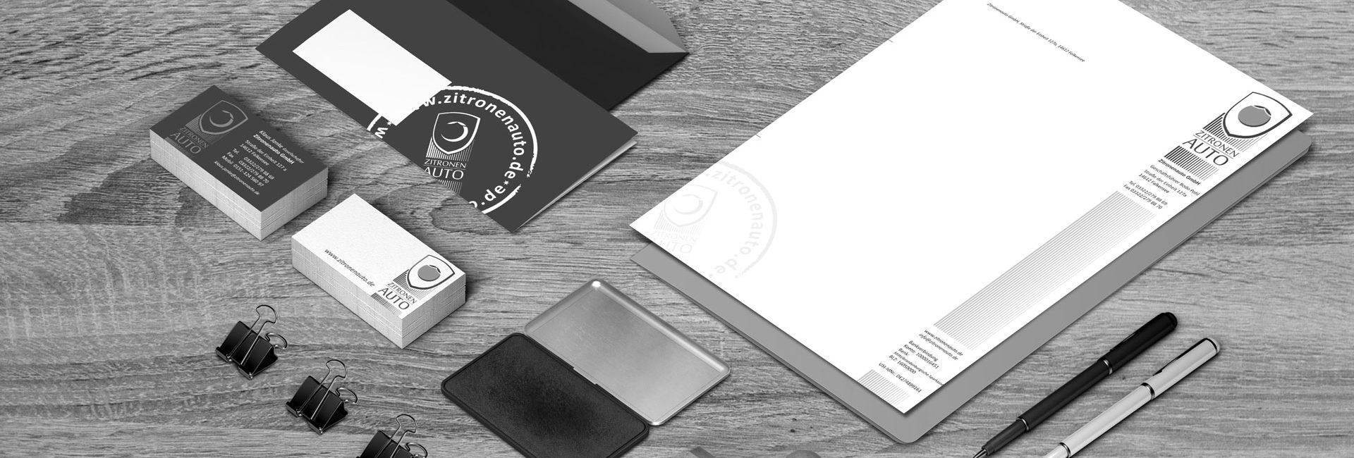 Geschäftspapiere wie Vistenkarten, Stempel, Briefumschläge und mehr von Kreative Werbung aus Falkensee